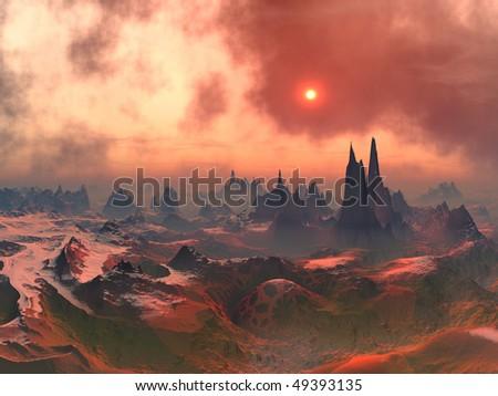 Forgotten Alien World - stock photo