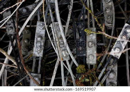 Forgotten Cables - stock photo
