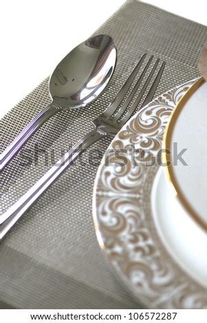 Fork and knife - stock photo