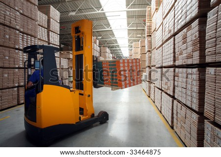 Forklift - stock photo