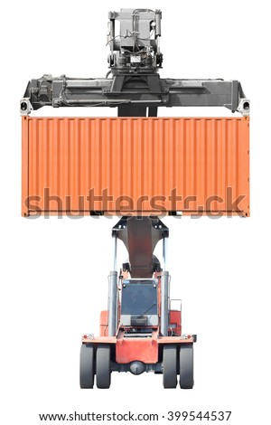Forklifts container isolated on white background with clipping path - stock photo