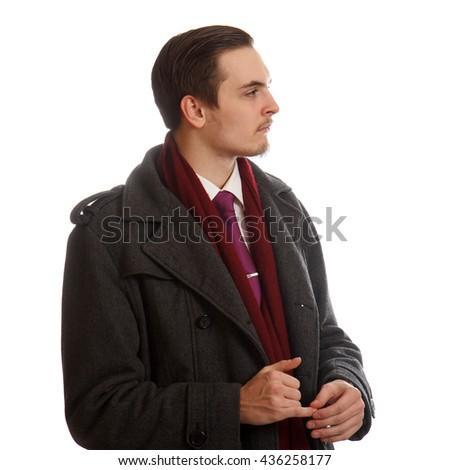 Formal male sideways - stock photo
