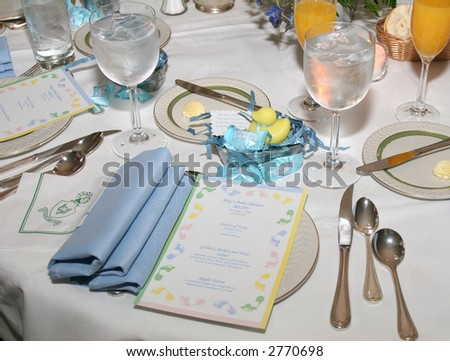 Formal place setting - stock photo