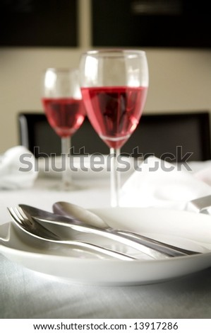 Formal table setting - stock photo
