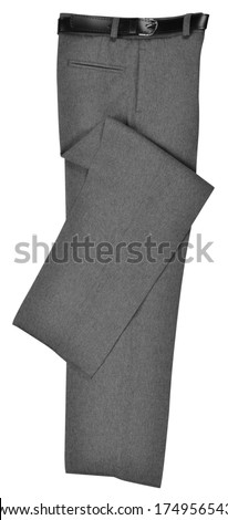 Formal trousers. Isolated - stock photo