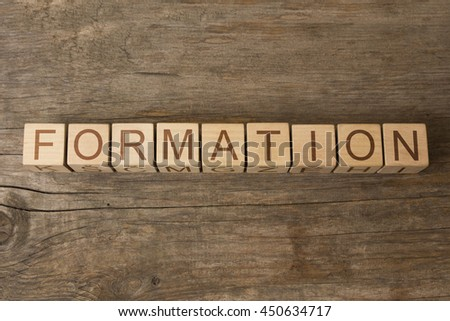 FORMATION text on wooden cubes - stock photo