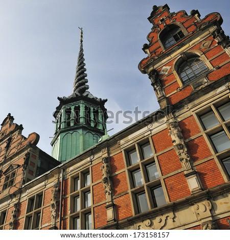 Former stock exchange building - Copenhagen, Denmark  - stock photo