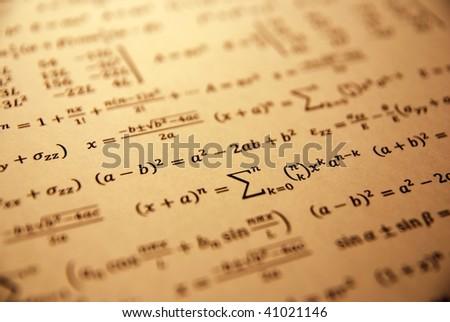 Formula, advanced math equation. - stock photo