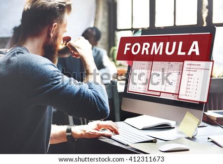 Formula Mathematics Calculation Chart Concept - stock photo