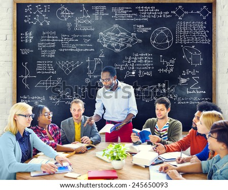 Formula Mathematics Equation Mathematical Symbol Geometry Information Concept - stock photo