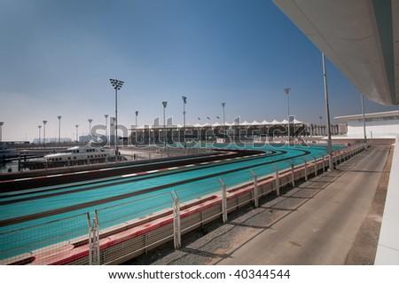 Formula One Grand Prix Race Track in Abu Dhabi - stock photo