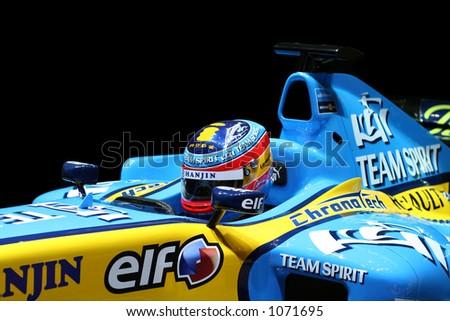 Formula One Renault. Shallow DOF. - stock photo