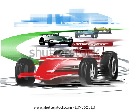 Formula 1 race - stock photo