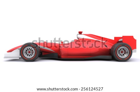 Formula race red car designed by myself - stock photo
