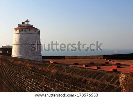 Fort Aguada, Goa, India - stock photo
