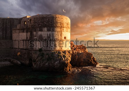 Fort Bokar. Dubrovnik. Croatia. - stock photo