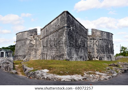 Fort Fincastle, Bahamas - stock photo