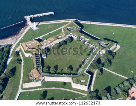 Fort Independence, Boston - stock photo