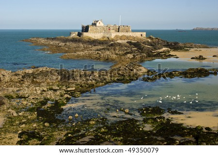 Fort National at St Malo, Brittany, France - stock photo