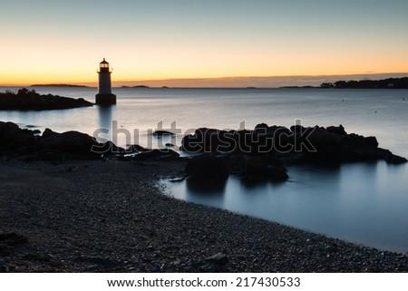 Fort Pickering (winter island) Lighthouse, Salem, Ma, USA - stock photo