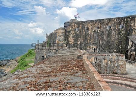 Fort San Felipe del Morro, Puerto Rico (USA) - stock photo