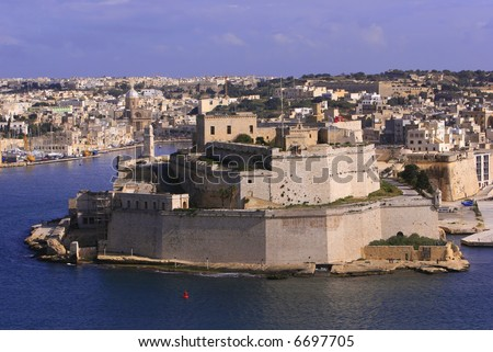 Fort St.Angelo, Malta - stock photo