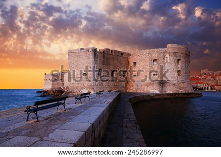 Fort St. John. Dubrovnik. Croatia. - stock photo