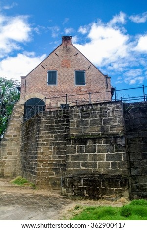 Fort Zeelandia fortress in Paramaribo, capital of Suriname. - stock photo
