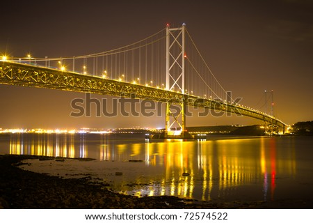 Forth Road Bridge, Scotland - stock photo