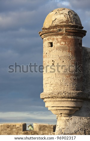 Fortifications in St. Augustine - stock photo