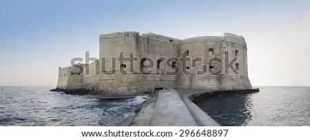Fortress at sea - stock photo
