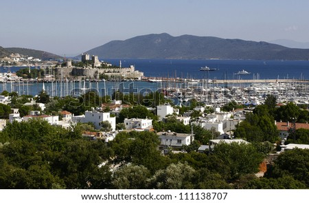Fortress in Bodrum - stock photo