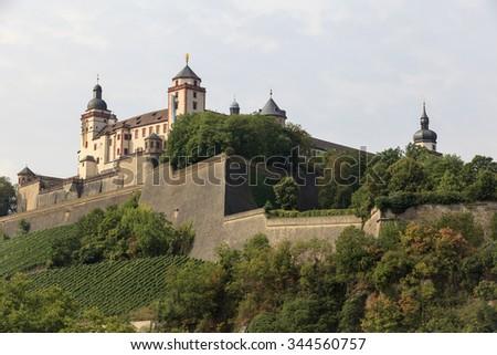 Fortress Marienberg, wurzburg, bavaria, germany - stock photo