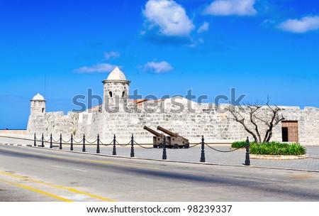 Fortress of la Punta in Old Havana - stock photo