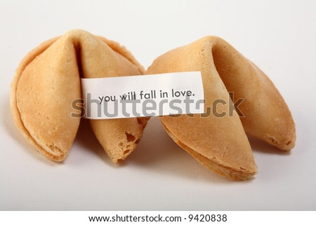 fortune cookie with text - stock photo