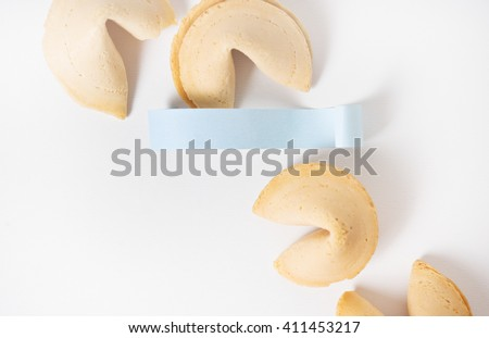Fortune cookies on the white  background - stock photo