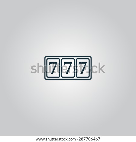 fortune 777. Flat web icon or sign isolated on grey background. Collection modern trend concept design style illustration symbol - stock photo