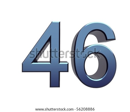 forty-six - stock photo