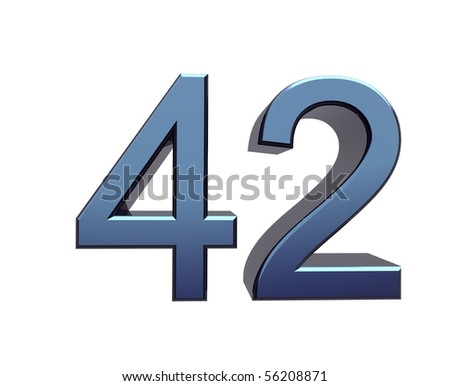 forty-two - stock photo