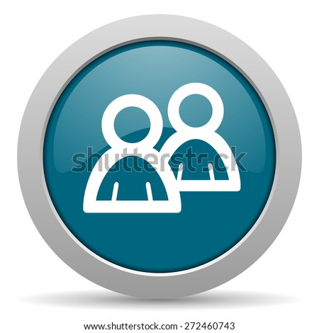 forum blue glossy web icon  - stock photo