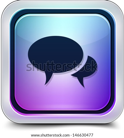 Forum/Chat button - stock photo