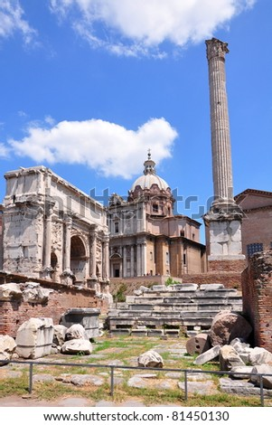 Forum Romanum, Rome, Italy - stock photo