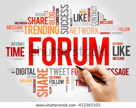 Forum word cloud, business concept - stock photo