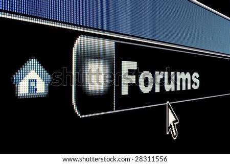 Forums concept on an internet browser URL address - stock photo