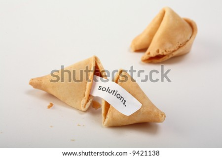 Forune cookies with text - stock photo