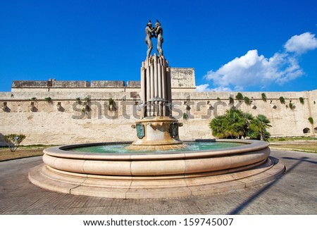 Fountain in Lecce, Italy - stock photo