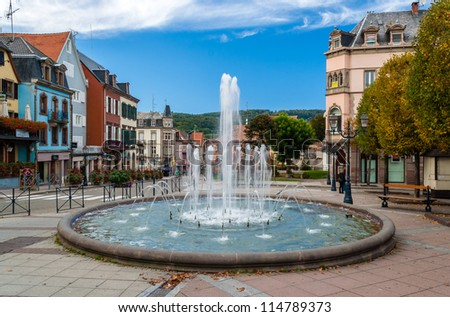 Fountain in Saverne, Alsase, France - stock photo