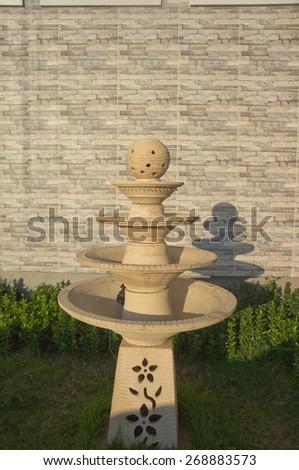 Fountain pagoda - stock photo