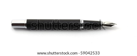 fountain pen isolated on a white background - stock photo
