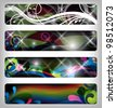 four abstract and colorful banners / designs - stock photo